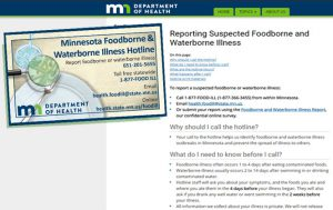 MDH Foodborne and Waterborne Illness Reporting